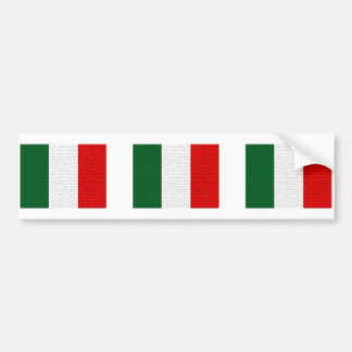 Italy Flag Snake Skin Bumper Stickers