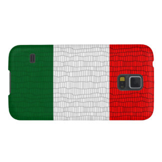 Italy Flag Snake Skin Galaxy S5 Cases