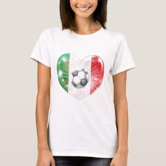 Italy flag soccer heart flag T-Shirt