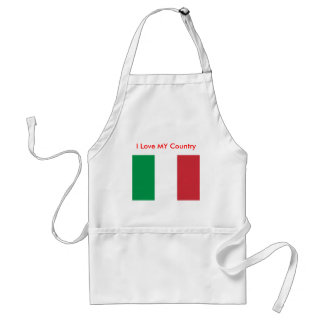 Italy Flag The MUSEUM Zazzle I Love MY Country Aprons