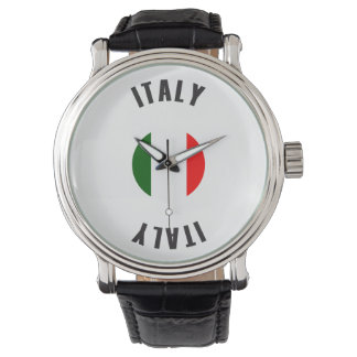 Italy Flag Wheel Wrist Watch