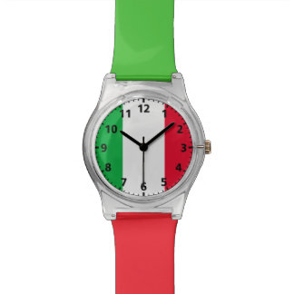 Italy Flag Wrist Watch