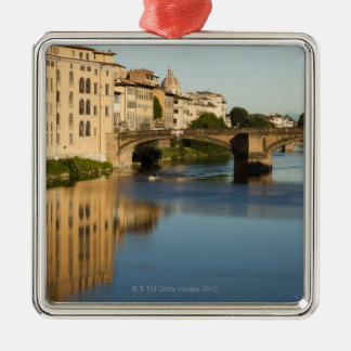 Italy, Florence, Bridge over River Arno Christmas Ornament