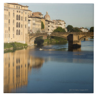 Italy, Florence, Bridge over River Arno Tile
