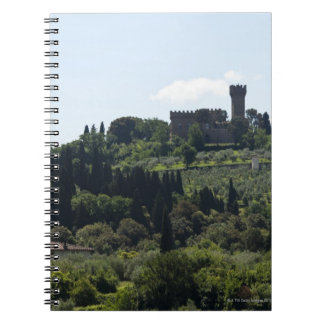 Italy, Florence, Castle on hilltop Notebook