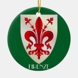 Italy - Florence Ceramic Christmas Ornament