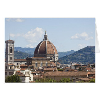 Italy, Florence, Cityscape with Duomo Greeting Card