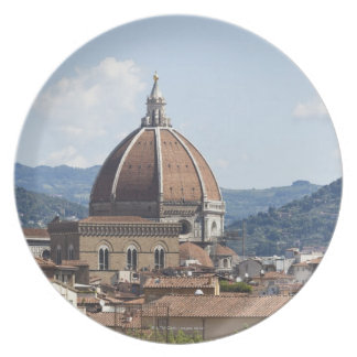 Italy, Florence, Cityscape with Duomo Plate
