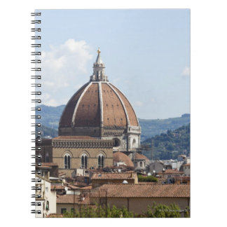 Italy, Florence, Cityscape with Duomo Spiral Notebook