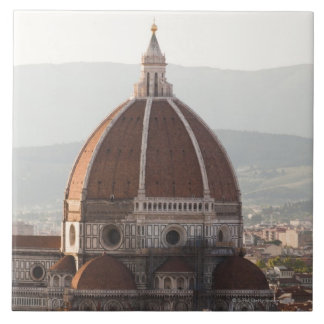 Italy, Florence, Dome of Duomo cathedral Large Square Tile