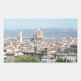 Italy Florence Duomo Michelangelo Square (New) Rectangular Sticker