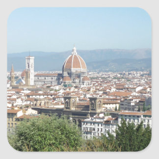 Italy Florence Duomo Michelangelo Square (New) Square Sticker