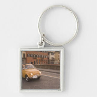 Italy, Florence. Fiat 800 Rally crosses Arno Silver-Colored Square Key Ring