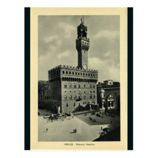 Italy, Florence, Firenze, 1908,, Palazzo Vecchio Postcard