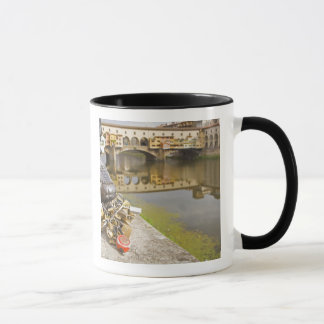 Italy, Florence, Love Locks and Reflections in Mug
