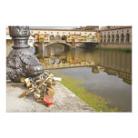 Italy, Florence, Love Locks and Reflections in Photo Art