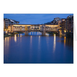 Italy, Florence, Night Reflections in the Card