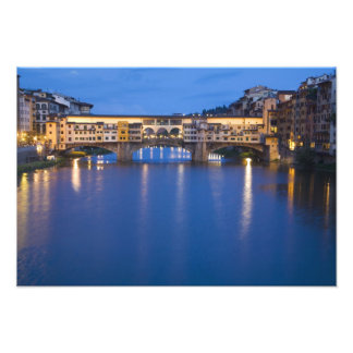 Italy, Florence, Night Reflections in the Photo Print