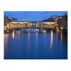 Italy, Florence, Night Reflections in the Postcard