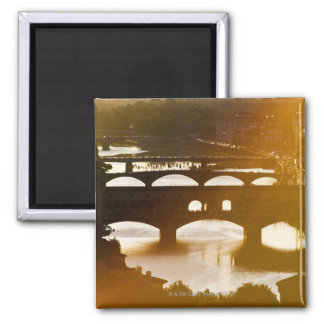 Italy, Florence, Ponte Vecchio and River Arno at Refrigerator Magnets