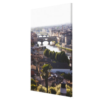 Italy, Florence, Ponte Vecchio and River Arno Canvas Print