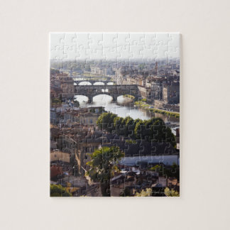 Italy, Florence, Ponte Vecchio and River Arno Jigsaw Puzzle