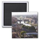 Italy, Florence, Ponte Vecchio and River Arno Magnet