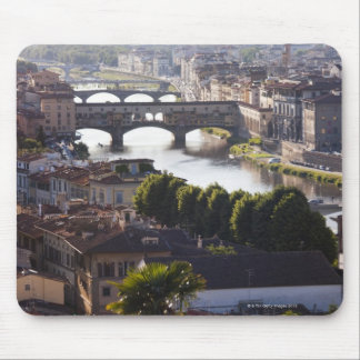 Italy, Florence, Ponte Vecchio and River Arno Mouse Pad