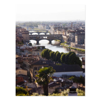 Italy, Florence, Ponte Vecchio and River Arno Postcard
