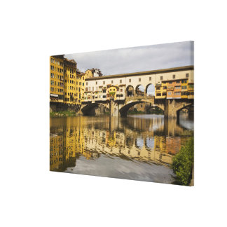 Italy, Florence, Reflections in the River Arno Canvas Print