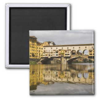 Italy, Florence, Reflections in the River Arno Magnet