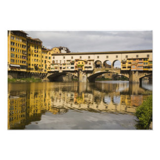 Italy, Florence, Reflections in the River Arno Photo Print