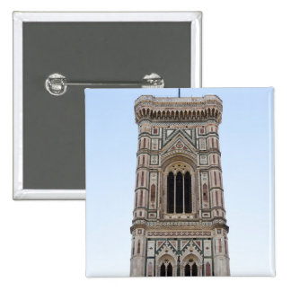Italy, Florence, Tower in old town 15 Cm Square Badge
