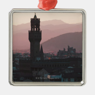 Italy, Florence, Towers in city at dusk 2 Christmas Ornament