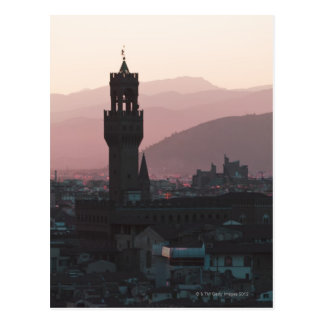 Italy, Florence, Towers in city at dusk 2 Postcard