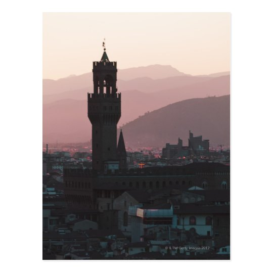 Italy, Florence, Towers in city at dusk 2