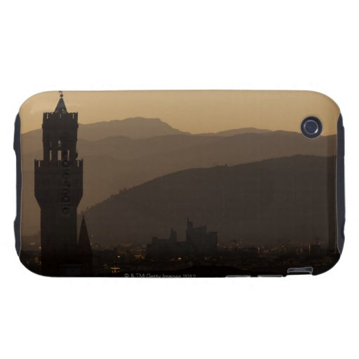 Italy, Florence, Towers in city at dusk iPhone 3 Tough Case