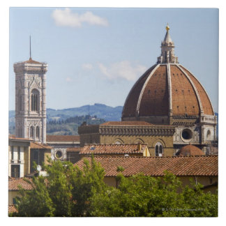Italy, Florence, View of Florence Cathedral Large Square Tile