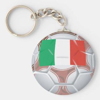 Italy Football Basic Round Button Key Ring