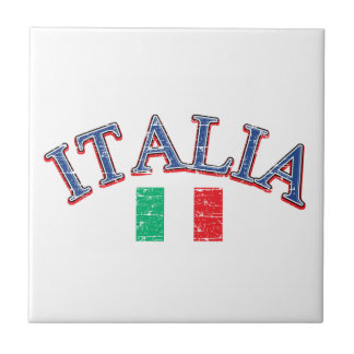 Italy football design small square tile