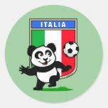 Italy Football Panda Sticker