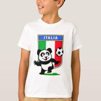 Italy Football Panda T-Shirt