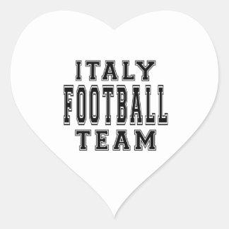Italy Football Team Heart Sticker