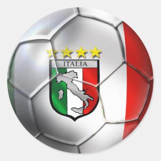 Italy Forza Azzurri Calcio Soccer Ball flag sports Sticker