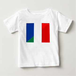 italy france flag country half symbol baby T-Shirt