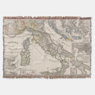 Italy from 1270 to 1450 throw blanket