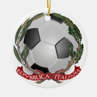 Italy Futbol Soccer Ornament