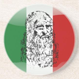 Italy glossy flag coaster