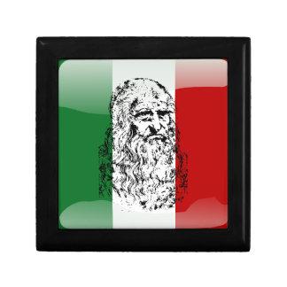 Italy glossy flag gift box