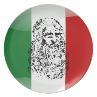 Italy glossy flag plate